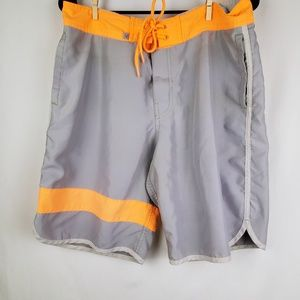 American Eagle Outfitters Gray Swim Trunks Medium